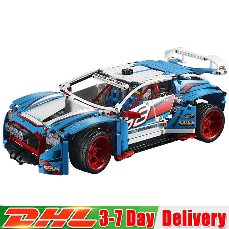 все цены на 2018 Technic Series The Rally Car Model Building Blocks Bricks Toys Compatible Legoingly 42077 Christmas Gifts
