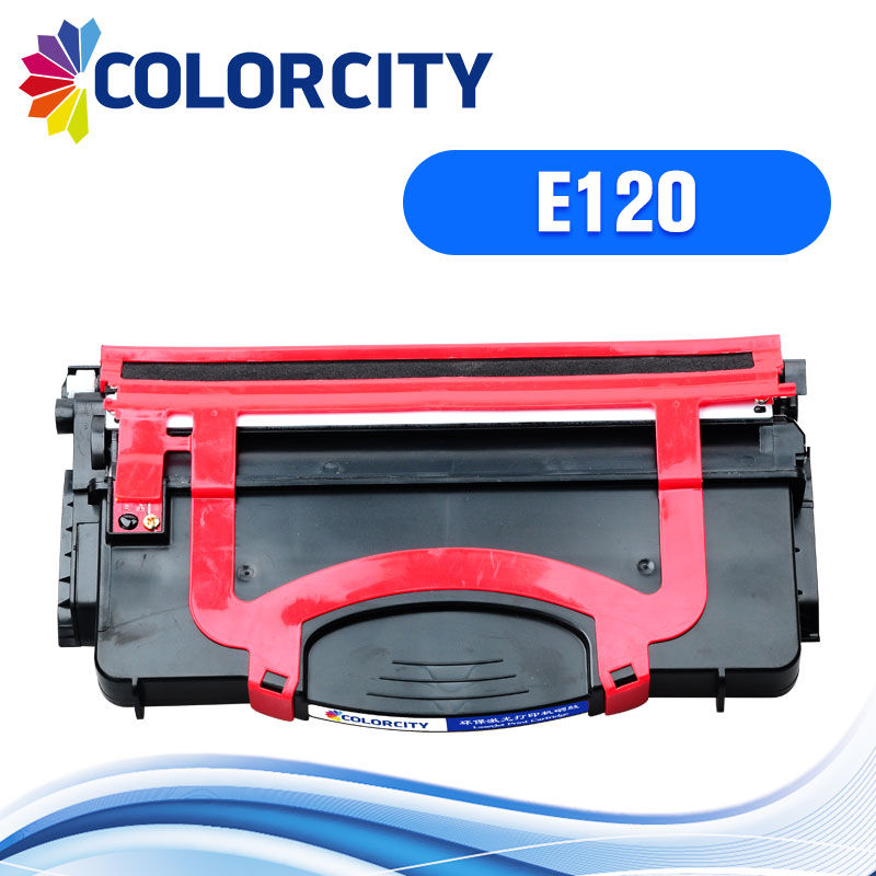 COLORCITY compatible toner cartridge replacement for Lexmark E120 E120n E 120 120n printer with chip