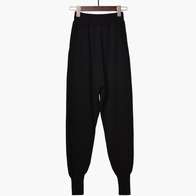 Acetato Especial Knit gris 2018 Harem Otoño Venta Oferta Caliente Mujer Suelta Pantalones Tamaño Negro De Harlan Ninguno Y Invierno Casual Gran Algodón EZwqw4Xx1