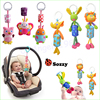 7pcs Lot Sozzy Large Bell Bed Hanging Plush Doll Animal Bell Chimes Baby Toys Wholesale