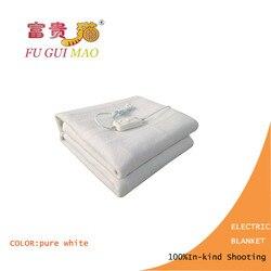 Электрическое одеяло FUGUIMAO, Двухслойное покрывало с электрическим подогревом белого цвета, 220 В, одеяло с подогревом для тела, подогрев 150x120 с...