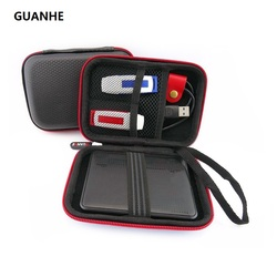 GUANHE 2.5 pouce HDD disque dur sac mobile power banque U disque cas Disque Dur Externe HDD sac pour WD my passeport seagate HDD