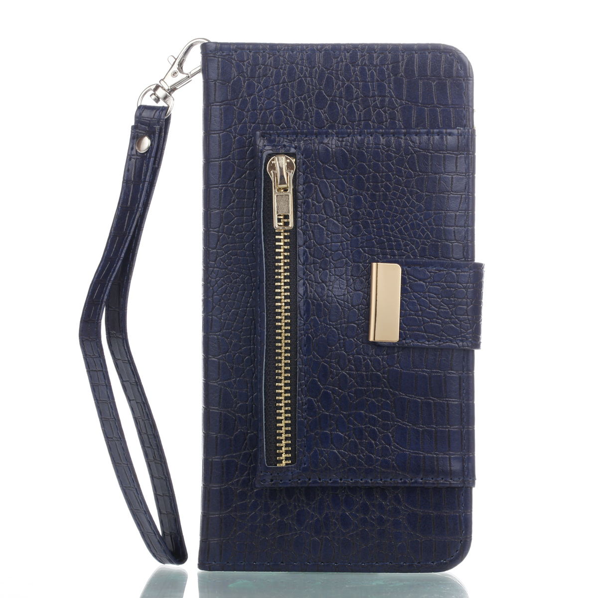 flip for Apple iPhone7 plus iPhone7Plus Luxury comes pocket purse Silica gel Phone Cover intelligent Solid color crocodile Case