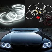 цена на 4Pcs CCFL White Light Angel Eyes Halo Ring Car Headlight for BMW E36 E38 E39 E46 M3