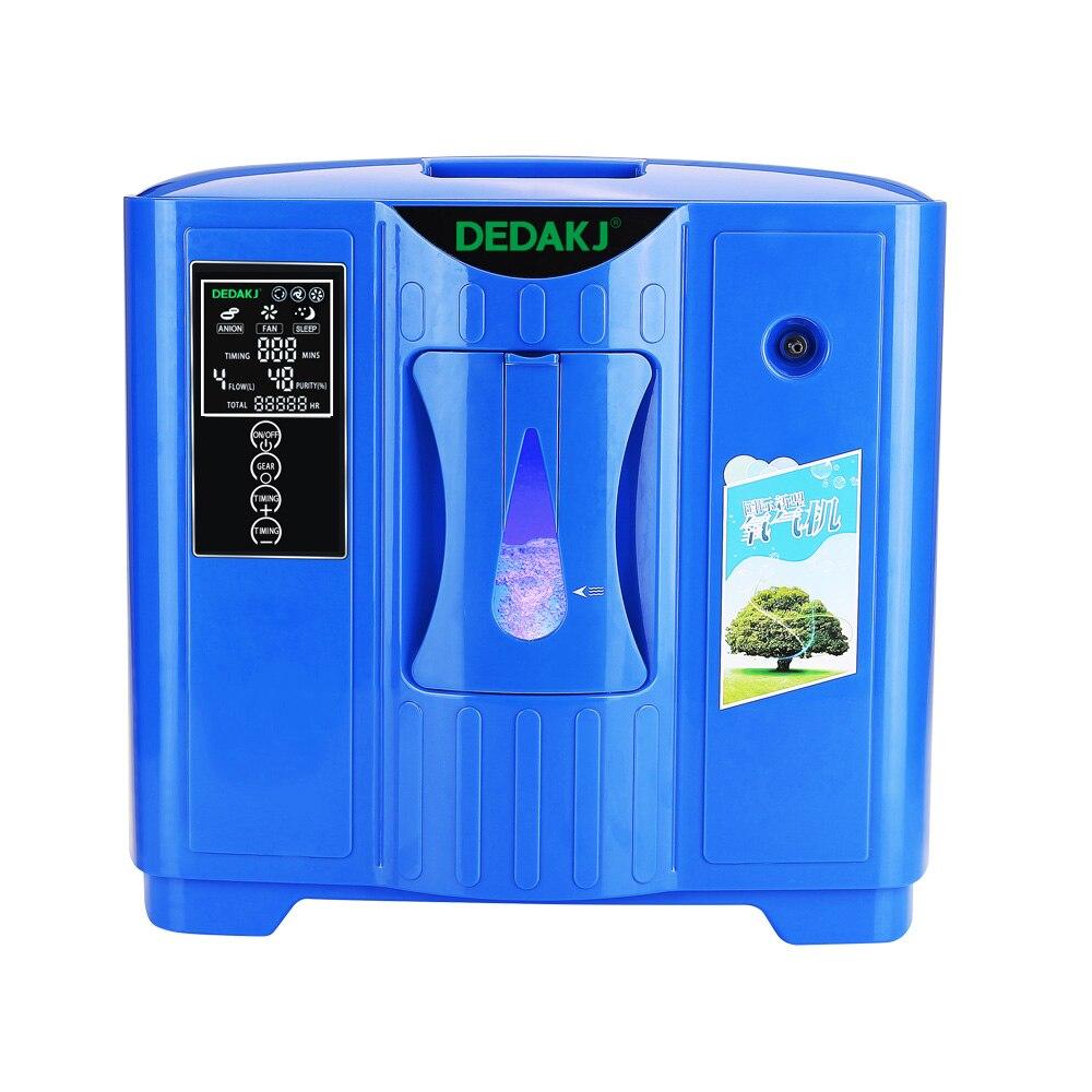 DEDAKJ DDT-2F Portable Générateur de Concentrateur D'oxygène Portatif de Ménage Machine Purificateur D'air Domestique 220 v Livraison Gratuite