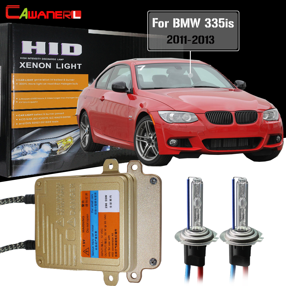Cawanerl H7 55W Canbus Ballast Bulb HID Xenon Kit AC 3000 4300K 6000K 8000K Car Headlight Low Beam For BMW 335is 2011-2013Cawanerl H7 55W Canbus Ballast Bulb HID Xenon Kit AC 3000 4300K 6000K 8000K Car Headlight Low Beam For BMW 335is 2011-2013