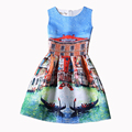 New Family Matching Outfits Girls Dress Sleeveless Printed Kids Dresses Mother and Daughter Party Princess Christmas Dress