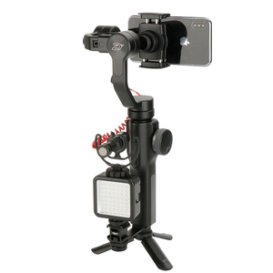 Image 4 - Ulanzi PT 3 Triple Hot Shoe Mount Adapter Microfoon Extension Bar voor Zhiyun Glad 4 Stabilizer DJI Osmo Gimbal Accessoires