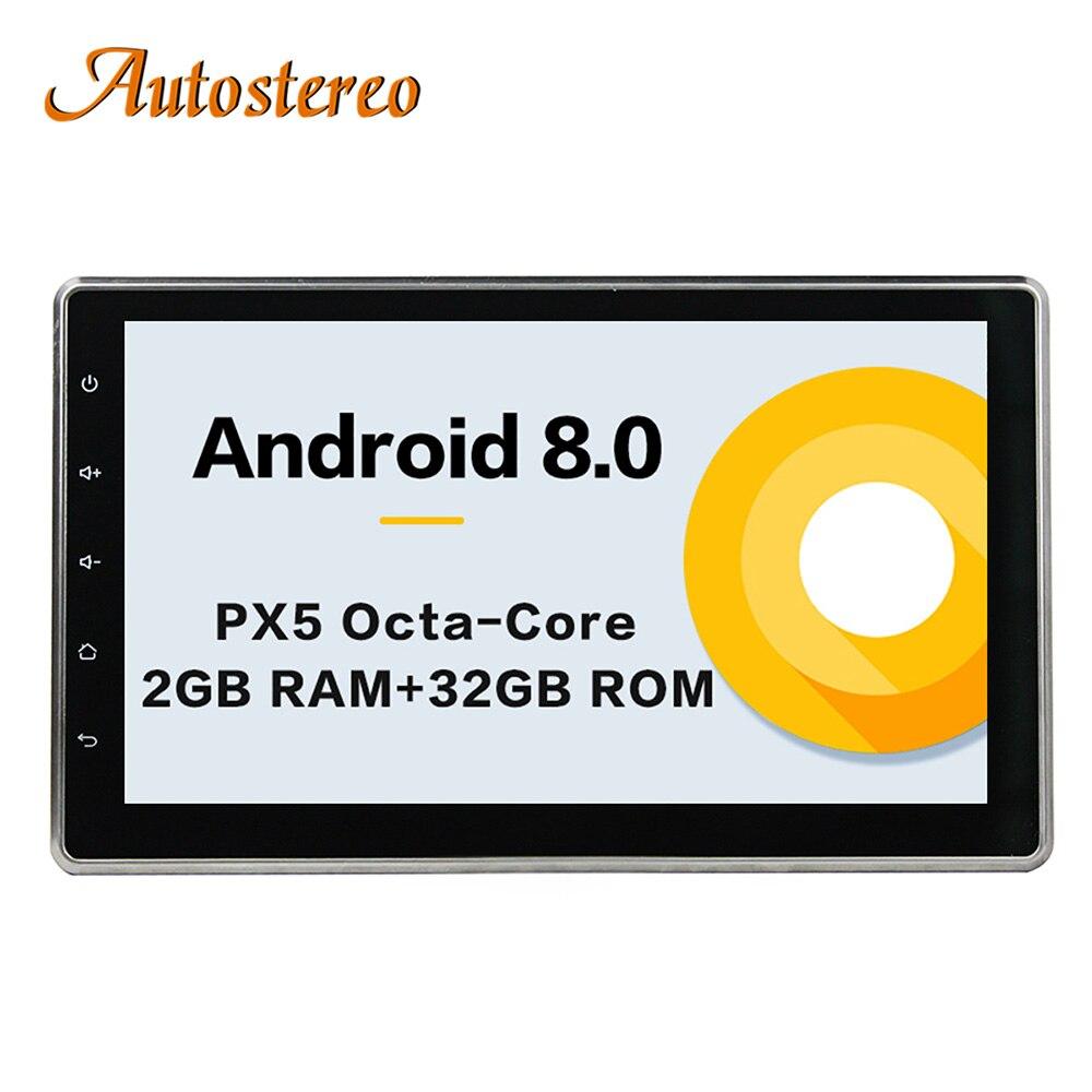 10,2 Универсальный 1 Din Android 8,0 автомобиля радио gps Регулируемый ips сенсорный экран стерео навигационный блок для Toyota Nissan NAV