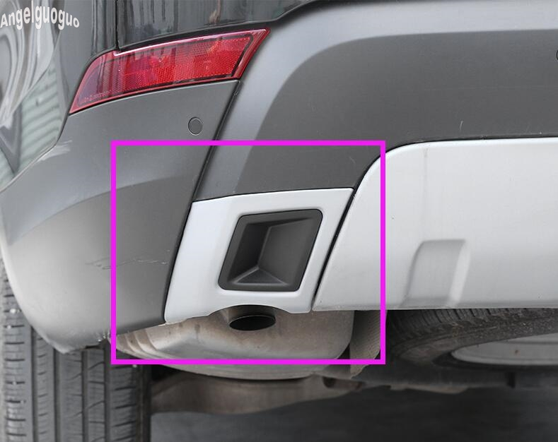Gray Tail Exhaust Plate Cover Trim For Land Rover Discovery 5 S//SE LR5 2017 18