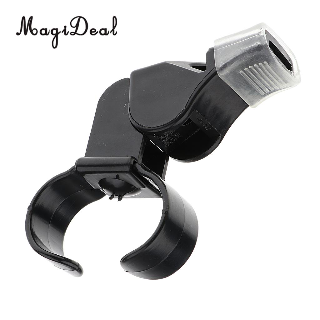 MagiDeal 1Pcs Plastic Referee Finger Mouth Grip Whistle Sports Soccer Football Basketball Survival Outdoor Black Vintage Whistle