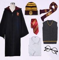 Potter College Gryffindor Uniform Hermione Granger Cosplay Costume Adult Kids Version Halloween Party Robe Suit New Gift