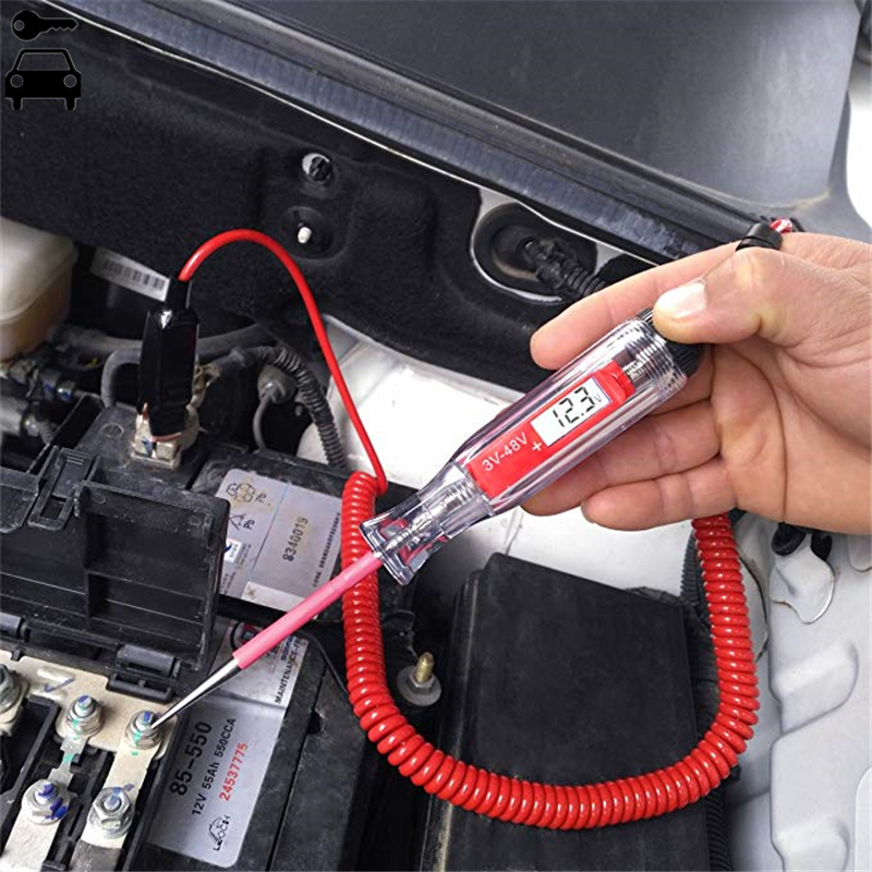 Universal 5-48V Automotive LCD Digital Circuit Tester Electric Voltage Test Powe