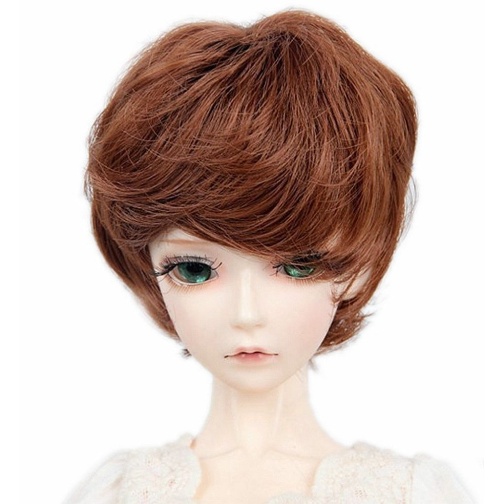 [wamami] 97#Red Brown Short Wig 1/3 SD AOD DOD DZ BJD Dollfie 8-9 new 1 3 22 23cm 1 4 18 18 5cm bjd sd dod luts dollfie doll orange black short handsome wig