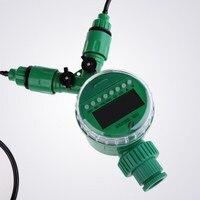 15 m 4mm Slang met Micro Irrigatie Kit met Nozzle Sprinkler en Timer Fog Systeem Sproeiers Water Sprinkler Spray