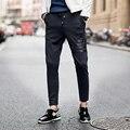 2016 Шаровары Новый Стиль Мода Повседневная Тощие Штаны Спортивные Брюки Падение Промежность Брюки Мужчины Бегуны Sarouel