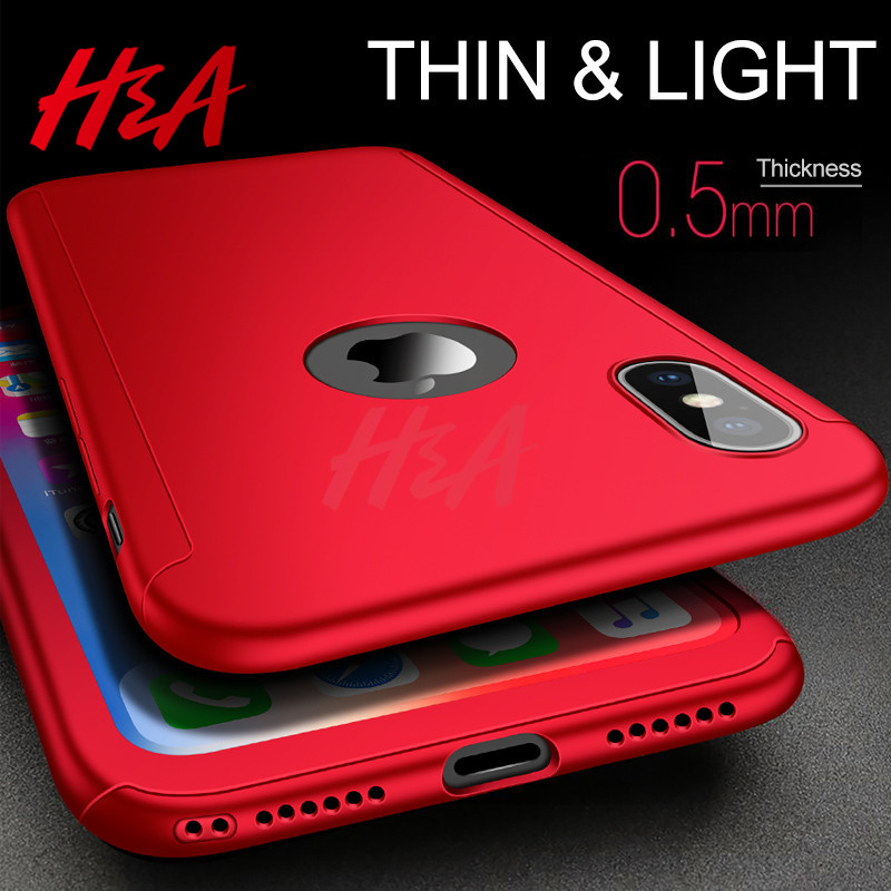 Image 3 - H&A Luxury 360 Full Cover Case For iPhone X XS MAX XR Protective Case For iPhone XR XS MAX X Plastics Phone Case Tempered Glass-in Fitted Cases from Cellphones & Telecommunications