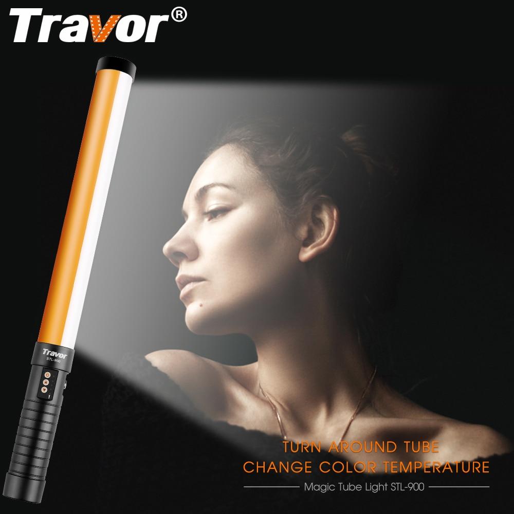 Travor STL-900 LED 비디오 라이트 핸드 헬드 LED 사진 빛 3200K5500K with Icelight with NP-F550 충전식 리튬 이온 배터리