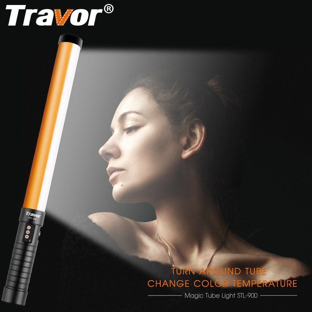 Travor STL-900 LED Vidéo Tenu Dans La Main Léger LED Lumière Photographique 3200K5500K comme Icelight avec NP-F550 Rechargeable Li-ion batterie