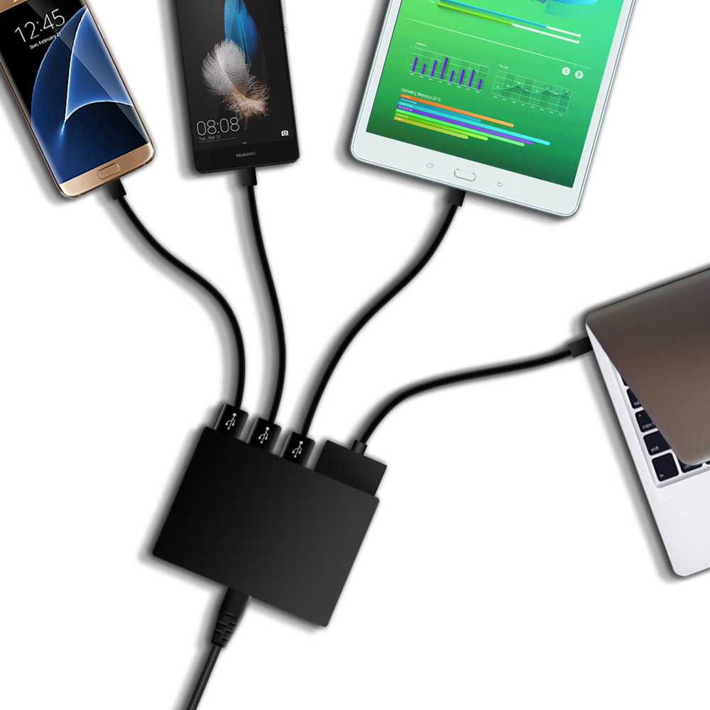Quick Charge 3.0 5-Port USB Travel Quick <font><b>Charger</b></font> Universal <font><b>Charger</b></font> Power Adapter For Laptop iPhone <font><b>Tablet</b></font>