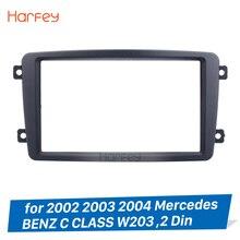 Harfey 2 Din Car Stereo Frame Per 2002 2003 2004 Mercedes BENZ CLASSE C W203 Pannello del Lettore DVD Kit Stereo audio Dash Fascia