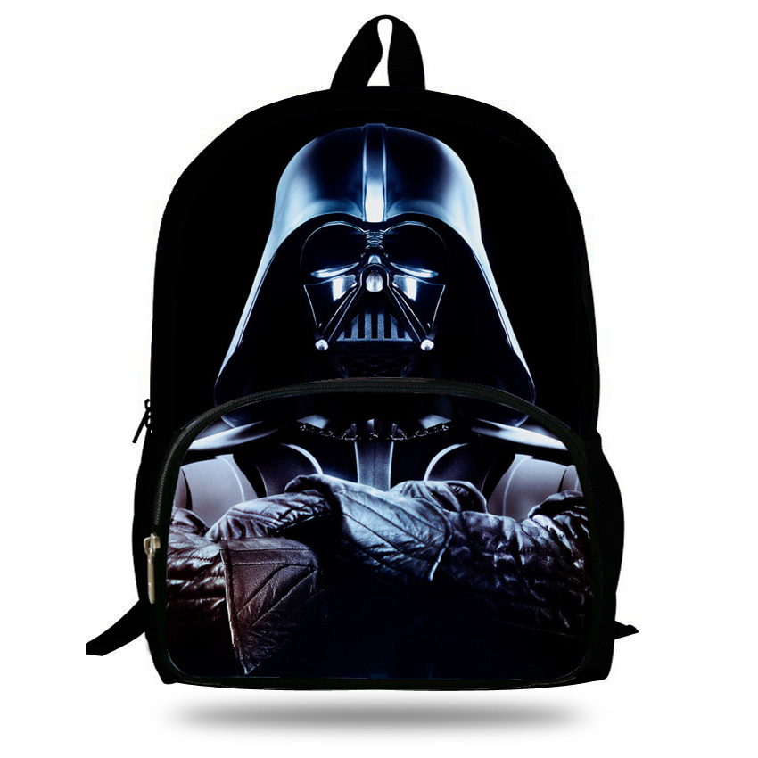Us 17 59 Off 16 Inch Hot Child Character Backpack Star Wars Bag For Kids Boys S Backpacks School Students Agers In