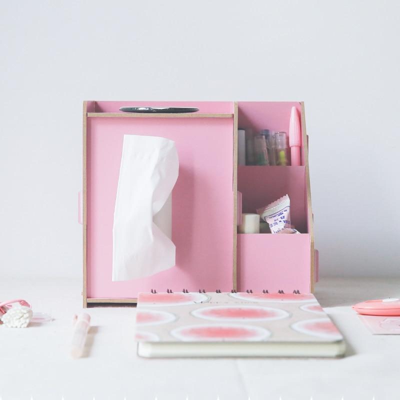Kreatív többfunkciós szövetdoboz fa íróasztal rendezvények - Szervezés és tárolás