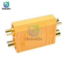 цена на 2pcs XT90 Battery Connector Set Male Female Gold Plated Banana Plug for RC Model Toy Lipo Battery Plug Yellow
