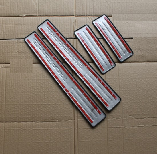 2010- TIGUAN пороговая полоса ультра-тонкая Накладка на порог двери из нержавеющей стали педали приветствуются аксессуары для стайлинга автомобилей