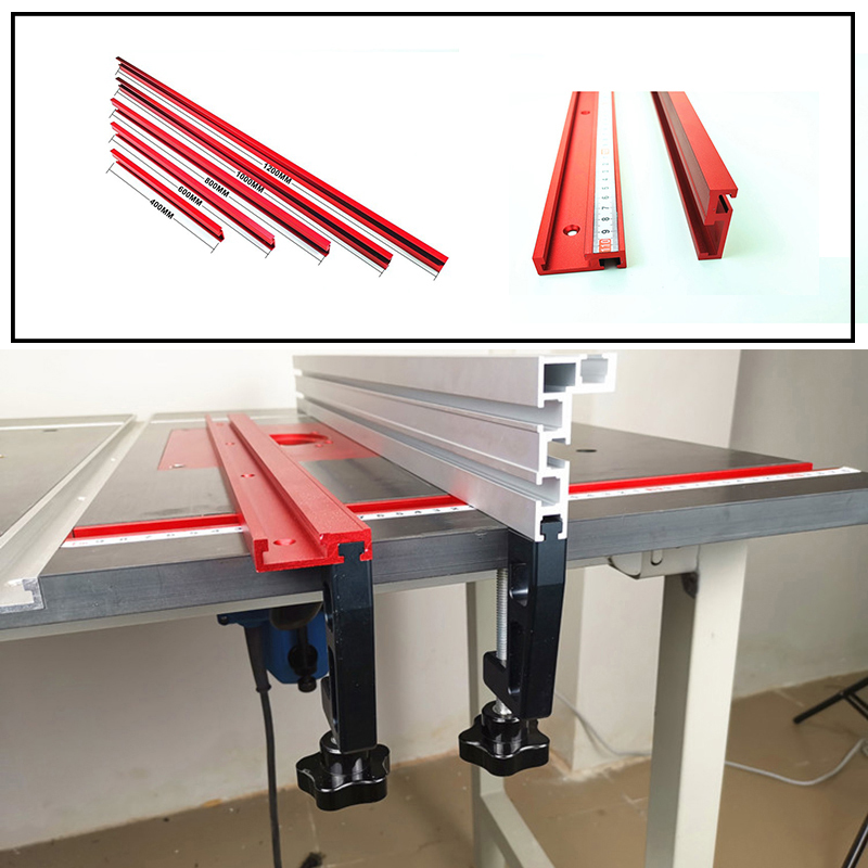 1PC 400/600/800mm Model 45mm Chute Aluminium Alloy T-tracks Woodworking Standard Miter Track Stop Woodworking DIY Tool