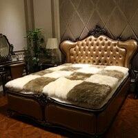 100% In Australia pelle di pecora materasso di lana materasso pelliccia veramente puro spessore caldo inverno l'umidità set biancheria da letto