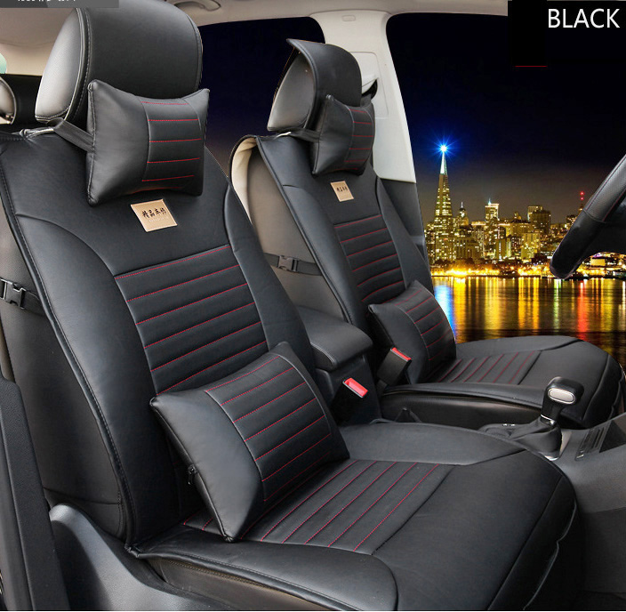 Brown/black brand leather Car Seat Cover Front&Rear complete seat for Ford Focus Fiesta Kuga EDGE S-MAX fusion car seat cushion for mercedes benz c200 e260 e300 a s series ml350 glk brand leather car seat cover front and back complete set car cushion cover