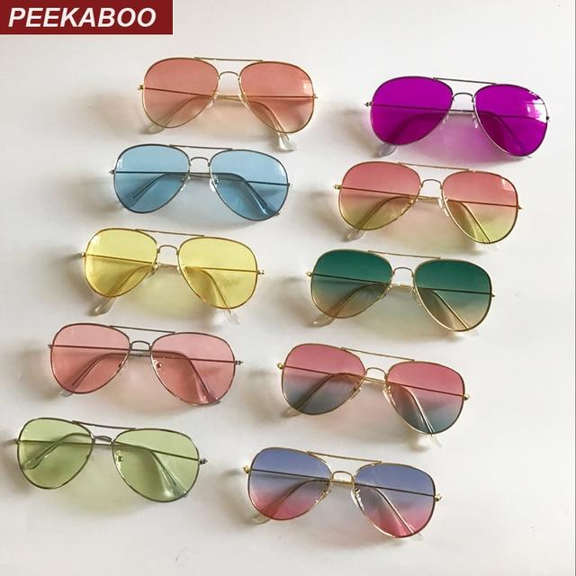 e813c57799 Peekaboo mujer verano claro lente gafas de sol Rosa barato de metal amarillo  mujeres, gafas