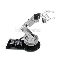 6 DOF רובוט מתכת סגסוגת זרוע מכאנית קלאמפ קלאו והסיבוב Stand קיט ההר w/6 יחידות Servos הדיגיטלית עבור Arduino רובוטית חינוך