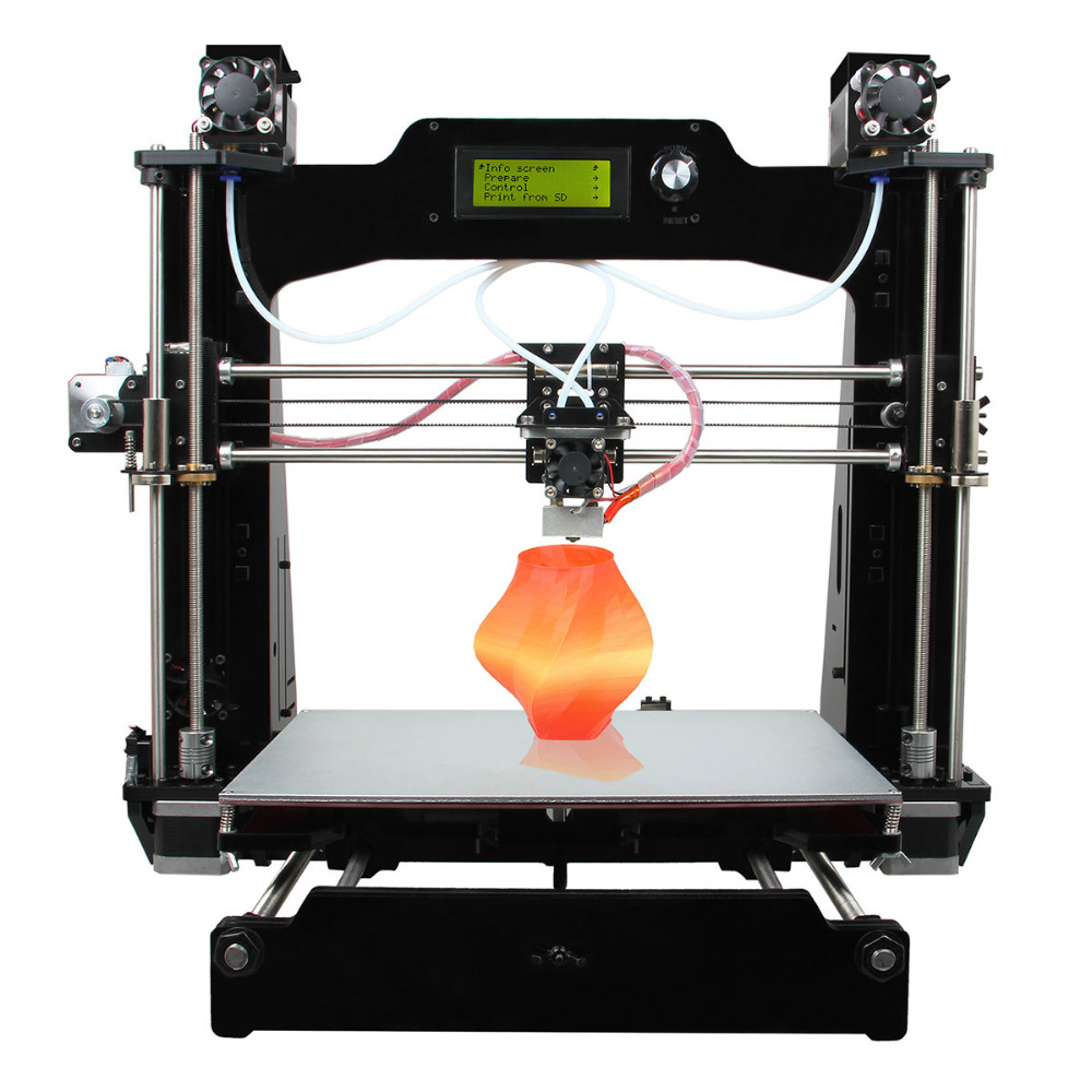 Geeetech M201 3D Printer 2-In-1-Out Extruder Reprap Prusa I3 DIY Kit  .STL, G-code High Resolution Impressora LCD