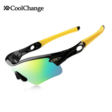 Compare Prices CoolChange Cycling Glasses Polarized Sunglasses Road Bike Outdoor Sports Goggles 5 Groups of Lenses Bicycle Eyewear Myopia Frame