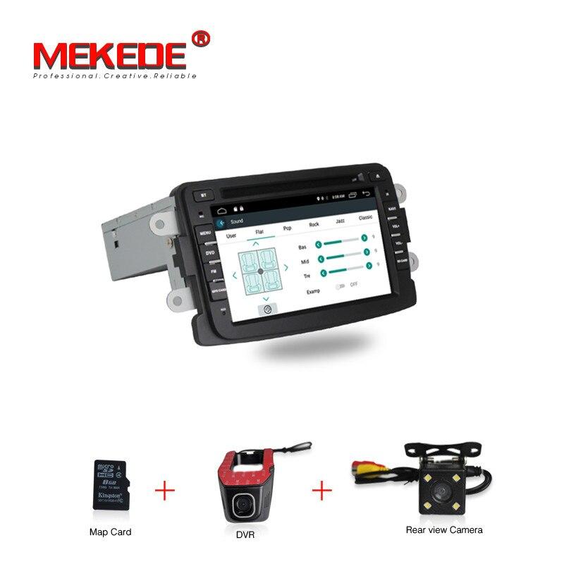 7 Pouce Android 7.1 Voiture DVD Radio Player Pour Dacia/Sandero/Chiffon/Renault/Captur/Lada/Xray 2 Logan soutien 4G WIFI GPS Navigation