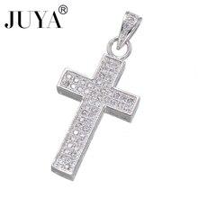 Fashion Classic Copper Zircon Crosses Charm Pendant DIY Men Women Bracelets Necklaces dijes bisuteria para manualidades