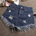 woman shorts summer 2016 Denim Jeans Sexy Ripped Holes Shorts KB1071