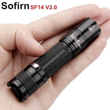 Sofirn SF14 V2.0 мини-мощный светодио дный фонарик AA 14500 Torch Light CREE XP-G2 светодио дный мини удобный зажим фонарик 3 режима
