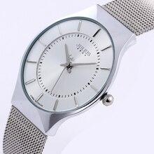Relojes de los hombres Top Brand Julius 30 M Impermeable Ultra Thin Fecha reloj Masculino de Acero Correa de Reloj de Cuarzo reloj de Pulsera Hombres Deportes Ocasionales reloj