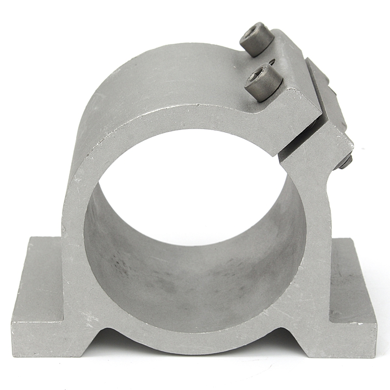 Sliver 80mm Diameter Spindle Motor Mount Bracket Clamp For CNC Engraving Machine Tool 80mm Spindle MountSliver 80mm Diameter Spindle Motor Mount Bracket Clamp For CNC Engraving Machine Tool 80mm Spindle Mount