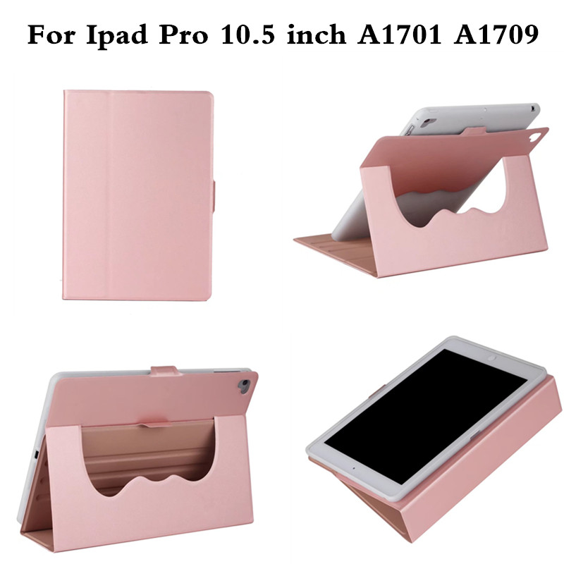 For New iPad Pro 10.5 inch Case 2017 PU Leather+TPU Soft Back Smart Cover Coque Rotatable Stand for A1701 A1709 Auto Sleep/Wake case for ipad pro 12 9 inch esr pu leather tri fold stand smart cover case with translucent back for ipad pro 12 9 2015 release
