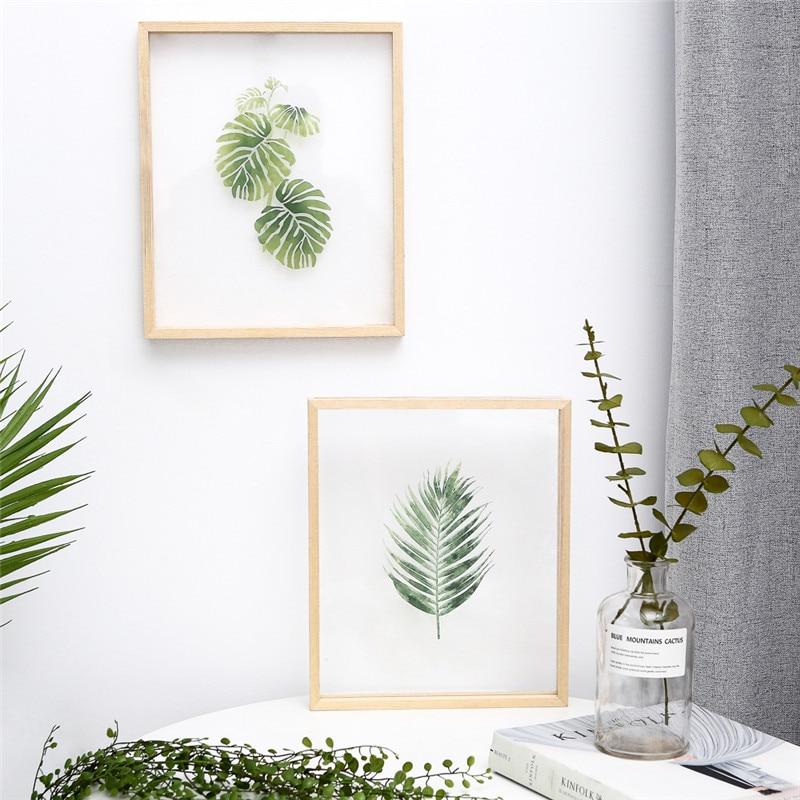 INS сменная прозрачная акриловая живопись с деревянной рамкой креативная Современная вешается на стену для гостиной или спальни деко