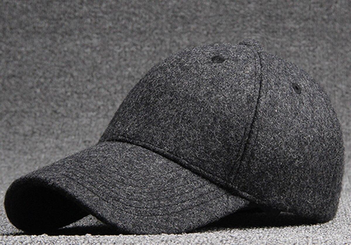 cd5723b9cf58e Bulk Hats 25pcs Black Wool Felt Baseball Hat for Winter 2017 NEW Womens  Plain Grey Base Ball Cap Men Blank Strap Back Ball Caps-in Men's Baseball  Caps from ...