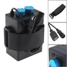 Портативные водостойкие батареи коробка для батарейного отсека с поддержкой интерфейса USB 6×18650 батареи для светодиодная фара для велосипеда