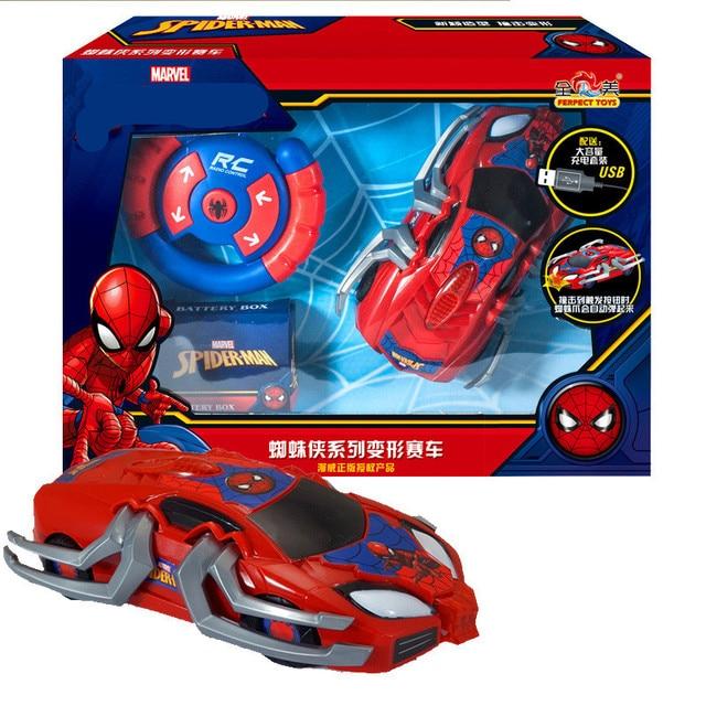 Marvel Genuíno M004 de Super-heróis Vingadores Homem-Aranha Deformação Carro de Controle Remoto de Corrida Modelo de Carro de Brinquedo das Crianças para o menino