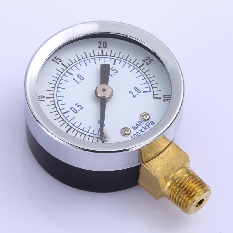 Best Selling New 1/8 NPT Air Compressor / Hydraulic Pressure Gauge 0-30 PSI Side Mount 1.5 free shipping portable lcd display manometer usb pressure gauge measure oil pressure hydraulic pressure free shipping