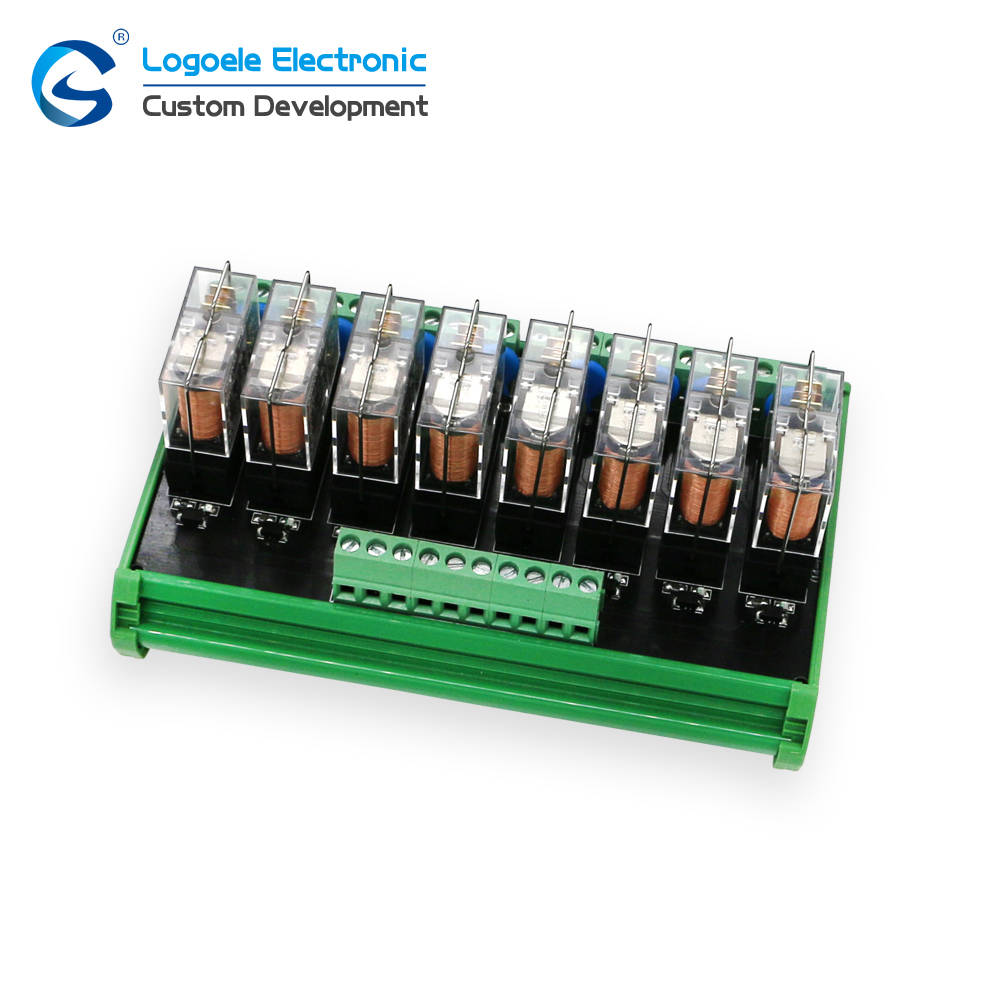 8 Channel DC 24V 12V 10A NPN 8-NO//8-NC Relay Driver Module Controller Board