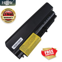 HSW New 9 cells Laptop battery For Lenovo ThinkPad R61 T61 R61i R61e R400 T400 T61p T61u Series(14-inch wide) Free shipping(China)